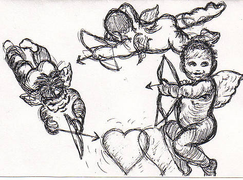 3 Cupids by Carole Joyce