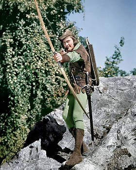 Errol Flynn in The Adventures of Robin Hood  by Silver Screen