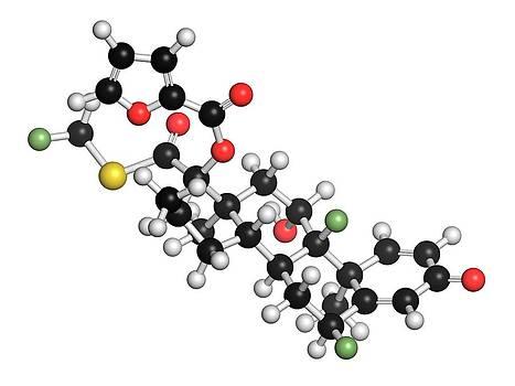 Fluticasone Furoate Corticosteroid Drug by Molekuul