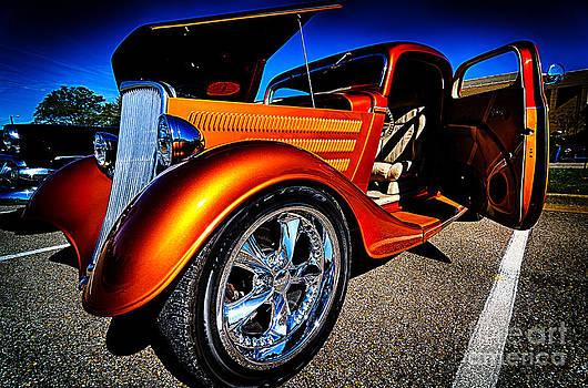 Danny Hooks - Gold Vintage Car at Car Show