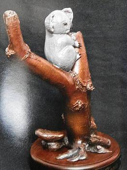 Koala in Tree by Lee Clark