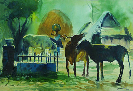 Landscape by Mohan Watercolours