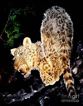 Leopard at Night by Sylvie Heasman