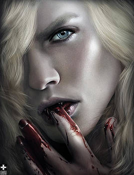 Lestat Licks Blood by Omri Koresh