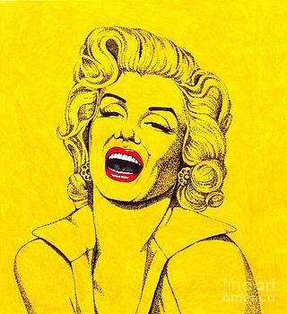 Marilyn in Yellow by Joseph Sonday