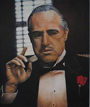 Marlon Brando The Godfather by David Dunne