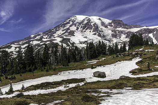 Mount Rainier from Paradise by Bob Noble