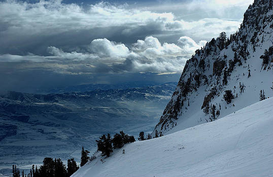 On the top of the World Snow and Sky Snowbasin mountain Utah by Anton Oparin