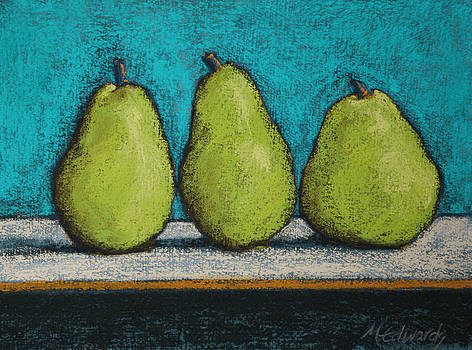 3 Pears Blue No 1 by Marna Edwards Flavell
