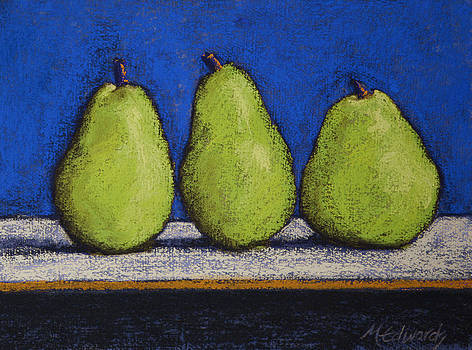 3 Pears Blue No 2 by Marna Edwards Flavell