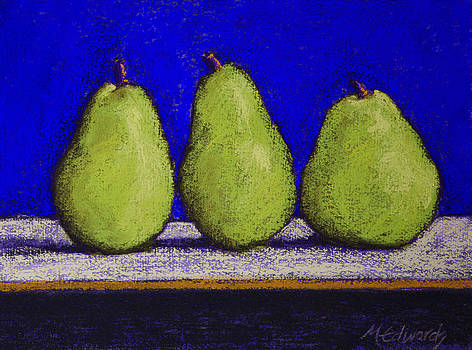 3 Pears Blue No 4 by Marna Edwards Flavell