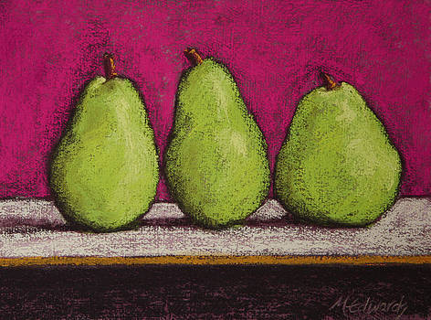 3 Pears Magenta by Marna Edwards Flavell