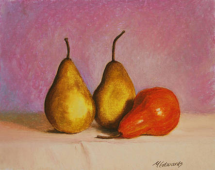 3 Pears on a Table by Marna Edwards Flavell