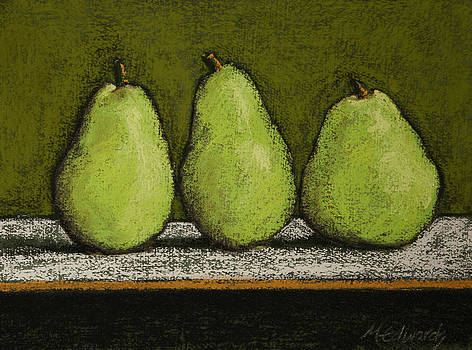 3 Pears on Green by Marna Edwards Flavell