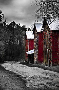 3 Red Barns by Chris Brehmer Photography
