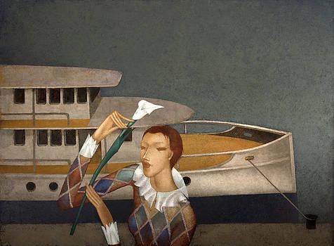 River steamer by Nicolay  Reznichenko