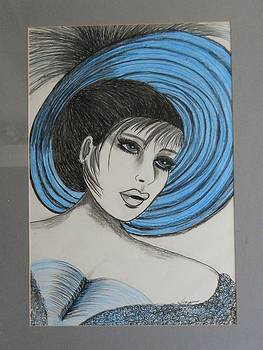 Roaring 20s Blue by Suzanne Thomas