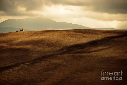 Rolling Hills of Val D'Orcia Tuscany Italy by Robert Leon