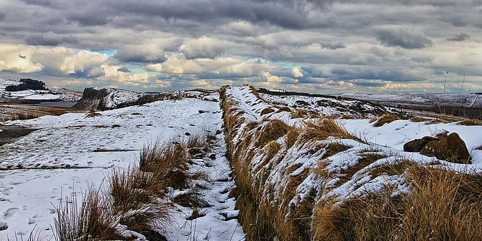 David Pringle - Roman Wall in Winter