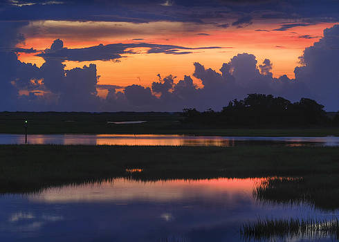 3 Second Flash Sunrise Sunset Image Art by Jo Ann Tomaselli