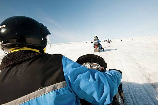 Snowmobilers by Ashley Cooper
