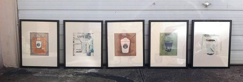 Starbucks print art by Martina Spisakova