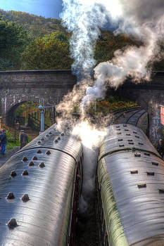 Fizzy Image - Steam engines on an old english railroad