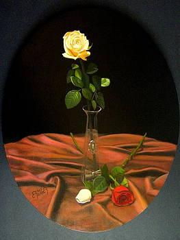 Still life roses  by Erno Saller