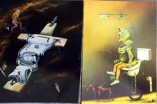 Surrealism paintings by Carlos Rodriguez Yorde
