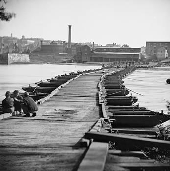 The Civil War. Pontoon Bridge by Everett