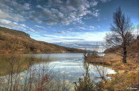 The river Auzon by Alexander Elzinga
