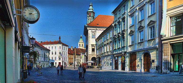 Spot the clock Ljubljana by Graham Hawcroft pixsellpix