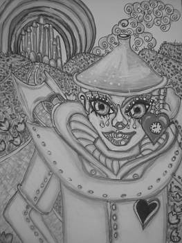 #3 Tin Man black and white by Terri Allbright