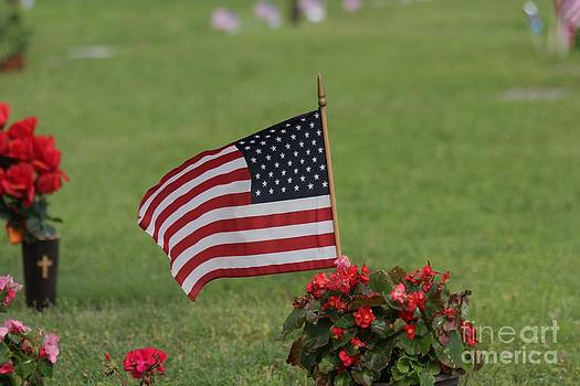 US Flag on MEMORIAL DAY by Robert D  Brozek