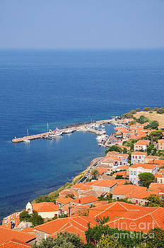 George Atsametakis - View of Molyvos village from the castle