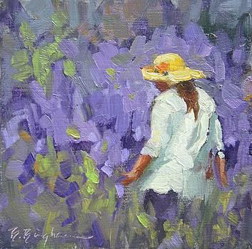 Walking in Lavender by Bruce Bingham