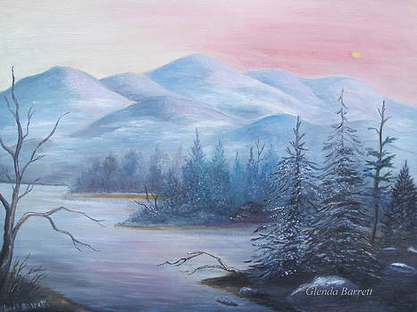 Winter in the Mountains by Glenda Barrett