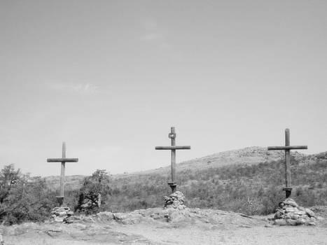 3 Wooden Crosses by Trevor Hilton