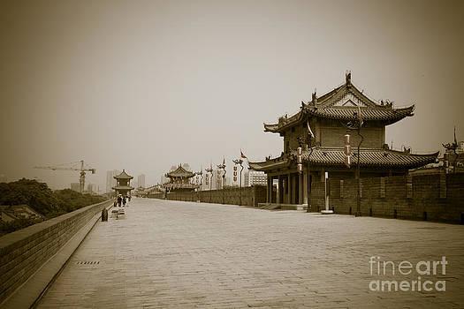 Xi'An City Wall China by Fototrav Print