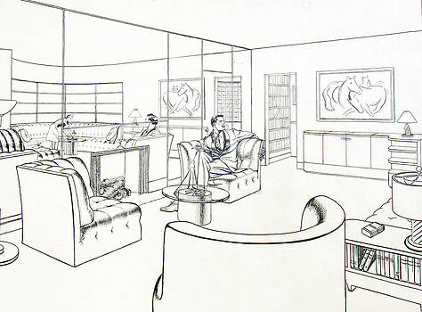 Moderne Man Cave by Robert Poole