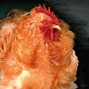 36. Frizzled Buff Cochin  by Sigrid Van Dort