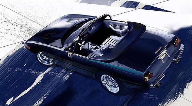 365 GTS 4 Daytona art by Fred Otene