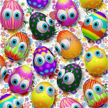 3d Cute Easter Eggs Cartoon by BluedarkArt Lem