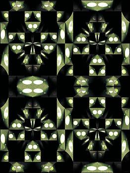 Green and Black Geometric Pattern by Gillian Owen