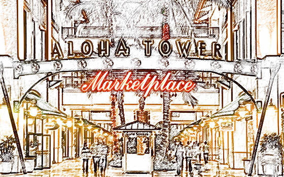Aloha Tower Marketplace by William Braddock