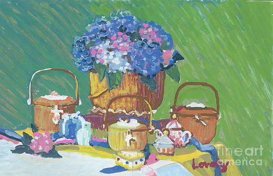 Candace Lovely - 4 Baskets with Hydrangeas
