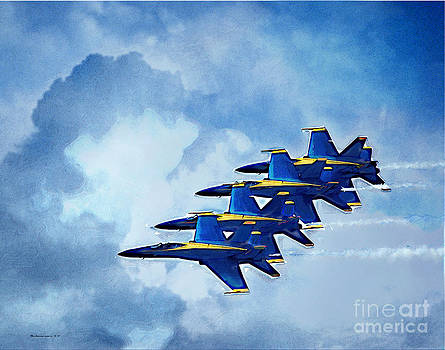 4 Blue Angels by Margie Middleton
