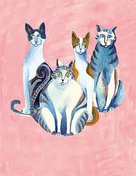4 Cats by Barbara Lightner