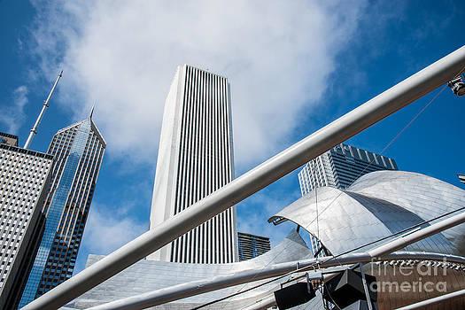 Chicago Skyline Amphitheater In Millenium Park by Jim DeLillo