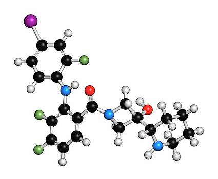 Cobimetinib Melanoma Drug Molecule by Molekuul